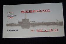 HP models brit. u-Boot p-552 ex us s-1 -1942 - 1:700 resin