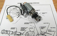1957 CHEVY CIGARETTE LIGHTER ASSEMBLY WITH LIGHT OPTION and CORRECT WIRING