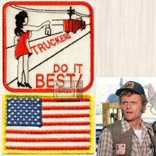 Smokey and the Bandit Truckers Do It Best & USA Flag Patches Snowman Embroidered
