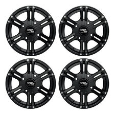 "14"" RockTrix RT101 ATV UTV Wheels Rims - 14x7, 4x137, 110mm Bore, 5+2 Offset"
