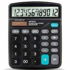 Calculadora Básica Sobremesa Escritorio 12 dígitos Pantalla grande Diseño