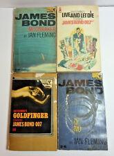 Set of 4 Vintage James Bond Paperback Pan Books Ian Fleming 1958 1964 1965 1973