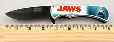 """Jaws Shark Movie Limited Edition Spring Assisted Knife 4.5"""" when closed + clip"""