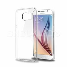 Clear Silicone Slim Gel Case and Glass Screen Protector for Samsung Galaxy S6