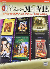 Alfred Classic Movie Instrumental Solos Book and Cd For Clarinet 19 pages