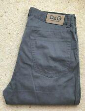 Mens Dolce & Gabbana straight leg grey cotton jeans trousers high rise W 36 L 34