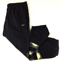 NWT Adidas Originals Mens 2XL Black Nylon Football Pants Windbreaker FM3401
