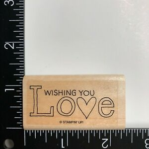Stampin Up Wishing You Love Wood Mounted Rubber Stamp