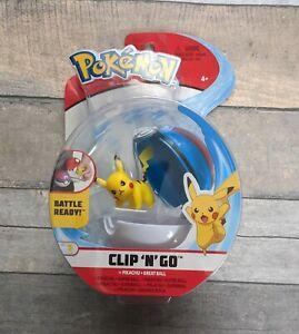 Pokemon Clip 'n' Go Pikachu & Great Ball BRAND NEW