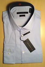 John Varvatos Blue Stretch Slim Fit Dress Shirt Size 16 1/2 - 32/33  Long Sleeve