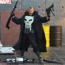 """6.6"""" Marvel The Punisher Action Figure Statue Toy KO Version Black Coat In Box"""