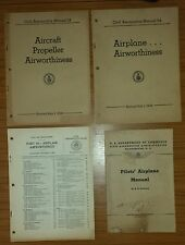 4 CIVIL AERONAUTICS MANUALS PILOTS AIRPLANE PROPELLER AIRWORTHINESS AIRCRAFT
