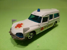 MAJORETTE 206 CITROEN DS 21 - AMBULANCE - WHITE 1:65 - VERY GOOD