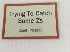 """Door Magnet 2"""" x 3"""" Trying To Catch Some Zs, hotel or home, baby, day sleeper"""