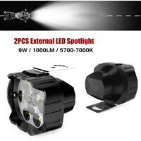 9W 1000LM Motorcycle LED Headlight Lamp Scooters Fog Spotlight White Light 9-85V