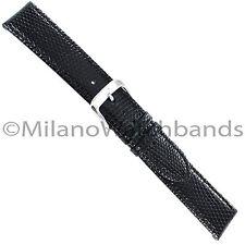 18mm Di Modell Indiana Black Handmade Stitched Genuine Lizard Watch Band Reg