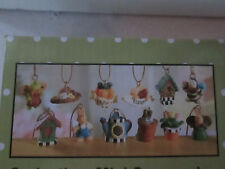 "Pkg of 12- Tiny Resin Miniature Easter - Spring Ornaments, 1/2"" - 3/4"" NEW"