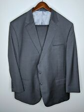 Recent Hart Schaffner Marx Big & Tall Gray Plaid Wool 2pc Suit Sz 52L Pants 44