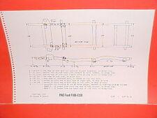 1965 FORD PICKUP TRUCK F-100 250 FLARESIDE STYLESIDE PANEL FRAME DIMENSION CHART