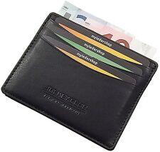 Extra plana de cuero de tarjetas de crédito estuche tarjetas de presentación tarjetas estuche estuche estuche negro