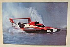 1989 BUDWEISER promo color card picture print hydroplane boat racing