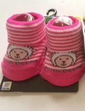 NEW John Deere Newborn Baby Girl Booties Socks Lamb Pink Cute Farm GIFT Animals