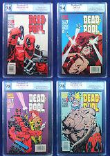 Deadpool #1-4 limited series PGX (not CGC) 9.8 - 9.4 Near Mint - NM/MT HTF