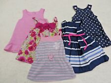 GIRLS CLOTHING LOT-DRESS's (LOT- 5pcs).- Size -(12MO)