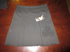 """Open Arms Shop  Skirt S USA NWT Brown Recycled Fabric womens W 29 to 31 x 17"""""""