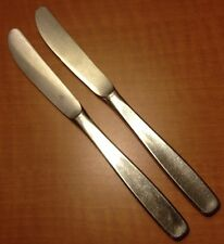 "WMF WILLIAM FRASER ""LINE"" SERRATED DINNER KNIVES:2 Stainless Flatware GERMANY"