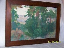 *Everett Lloyd Bryant*American Listed Artist Original Gouache Landscape Painting