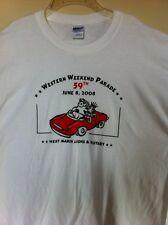 Vintage 2008 WESTERN WEEKEND T-Shirt Point Reyes Marin California NEW Unworn NWT