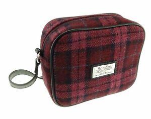 Harris Tweed 'Almond' Mini Bag in Raspberry Check LB1210-COL90