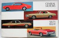 1968 GENERAL MOTORS AUTOMOBILE PASSENGER CARS ADVERTISING SALES BROCHURE VINTAGE