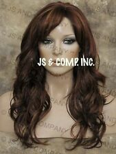 Beautiful Red Auburn Blonde Wavy Long Wig with skin top JSPP 27-33-130
