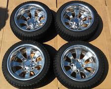 "EZGO Club Car Yamaha SET of 4 12"" Inch Alloy Rims DOT Tires 205 30 12 Golf Cart"