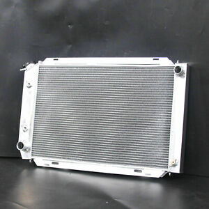 Aluminum Radiator For Ford Mustang GT GL GLX GT Ghia L4 L6 V8 79-93 2Row 138E AT