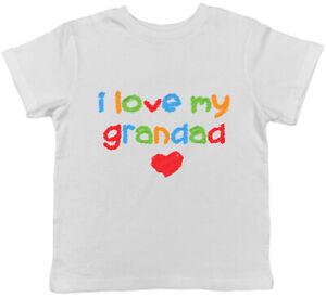 I Love my Grandad Cute Boys Girls Kids Childrens T-Shirt