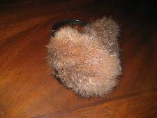 New Light Brown Real Opossum Fur Earmuffs Ear warmer