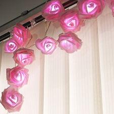 20er LED-Lichterkette Rosen Blumen Blüten Deko Lichter Tischdeko Hochzeit Dekor