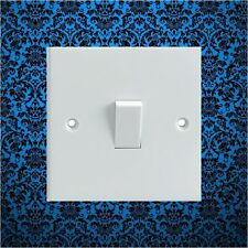 Blue & Black Pattern Electrical Light Switch Surround Printed Vinyl Sticker