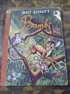 Walt Disney's Bambi! Vintage 1940's Original Hardback Children's Story Book!