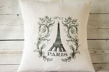 "Paris Scroll - 16"" cushion cover French shabby vintage chic - UK handmade"