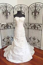 447 JUSTIN ALEXANDER 4515 NATURAL SZ 12 WEDDING GOWN DRESS