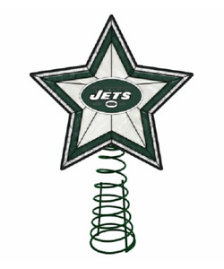 """NFL New York Jets Christmas Tree Topper by The Memory Company 10"""" Lighted Star"""