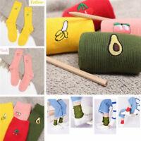 Chaussettes de coton imprimé femmes chaussettes rétro broderie longue colorée