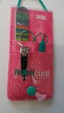 Trim women Personal Care Set of Scissors Clipper File Comb & Case UK