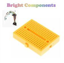 Solderless Prototype Breadboard (170 Points) + 65 Jumper Wires - Yellow