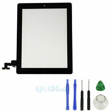 Front Panel Touch Screen Glass Digitizer+ Home Button Assembly for iPad 2 &Tools