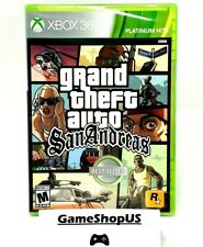 Grand Theft Auto San Andreas for Microsoft Xbox 360 and Xbox One Gta New Sealed